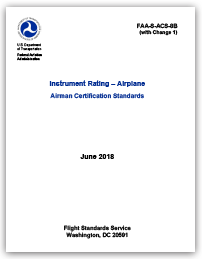 Instrument Rating – Airplane Airman Certification Standards