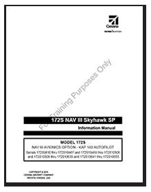 172S NAV III Skyhawk SP NAV III Avionics Option KAP 140 Autopilot