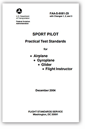 Sport Pilot Practical Test Standards for Airplane
